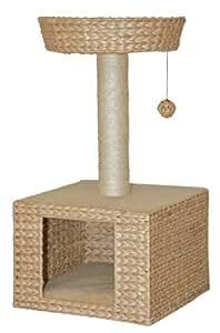 nobby 63026 02 kratzbaum f r katzen bess beige wasserhyazinthe haustier. Black Bedroom Furniture Sets. Home Design Ideas