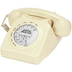 Geemarc Retro Mayfair - Teléfono estilo clásico, color crema [Importado de Reino Unido]