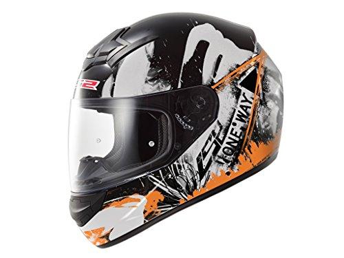 ls2-103525253xs-ff352-casco-rookie-one-color-negro-naranja-fluor-tamano-xs
