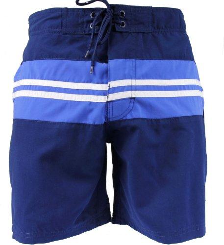 SHIWI® Badeshorts Boardshorts Strandshorts Shorts Badehose marine weiß blau Größen S M L XL XXL marine weiß blau
