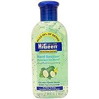 HiGeen Antibacterial Hand Sanitizer Gel Green Tea and Cucumber, 110 ml