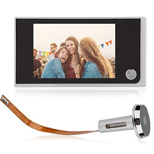 Mirilla Digital Inalámbrica, Door Viewer con 3.5in HD Pantalla LCD Cámara Digital ángulo Amplio de 120°, Para La Seguridad del Hogar