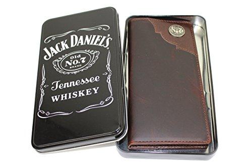Jack Daniel's 8032JD Leder Brieftasche, Portemonnaie, Wallet mit Jack Daniels Geschenkox