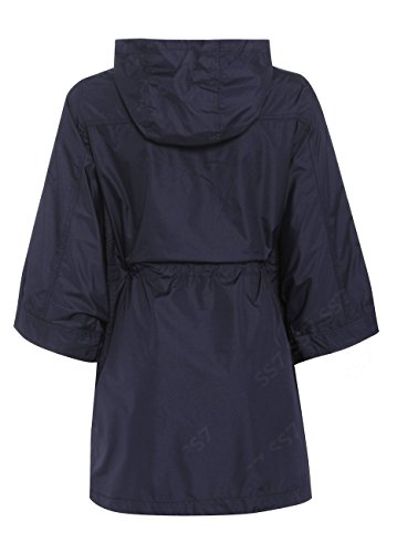 SS7 Femmes Imperméable Mac, Coupe-vent Imperméable Festival, Tailles 36 à 44 Bleu Marine