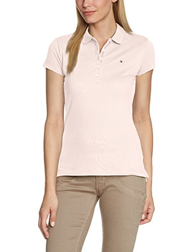 tommy-hilfiger-chiara-slim-fit-polo-blouson-uni-col-polo-manches-courtes-femme-rose-sea-pink-taille-