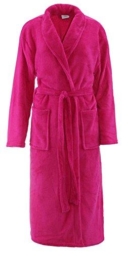 Bademantel Microfaser Unisex Damen & Herren - in der Größe: S/M - in der Farbe: Pink - von Brandsseller
