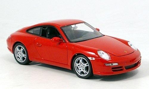 Porsche 911 (997), Carrera S, rot, Modellauto, Fertigmodell, Welly 1:24