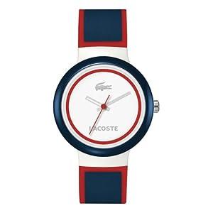 Reloj Lacoste 2020029 de cuarzo unisex con correa de silicona, color multicolor de Lacoste