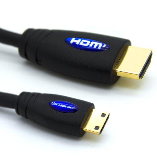 LCS - 4M - Mini HDMI Kabel 1.4 / 2.0 - FULL HD 1080p - Hochgeschwindigkeits mit ETHERNET und 3D - Dreifach-Abschirmung - Vergoldete kontakte - Unterstützt neuen Technologien ARC - CEC - Deep Color und x.v.Color - Kompatibel mit dem neuen Tablet-PC