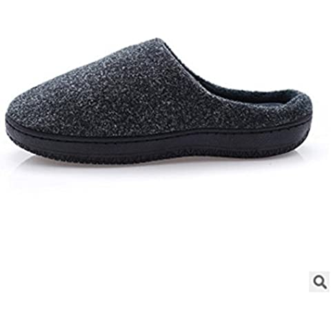 Uomini e donne coppia lento rimbalzo memoria spugna cotone pantofole da casa , army green (1.5 Pvc Slittamento)