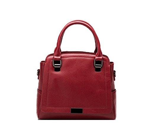 PACK Big Fashion Trend Borsa A Tracolla Messenger In Pelle Messenger Bag Litchi Pattern Handbag,B:Gray C:BigRed