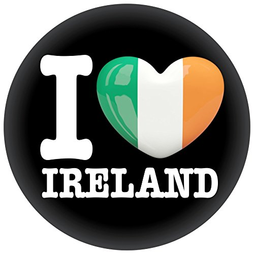 FanShirts4u Button/Badge/Pin - I Love IRLAND Fahne Flagge IRELAND ÉIRE (I Love Ireland) -