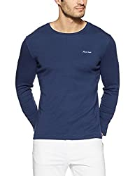 Monte Carlo Mens Solid Regular Fit T-Shirt (217039919-2_Blue_44)