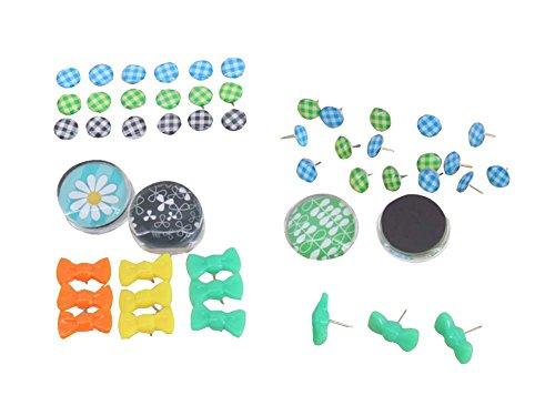 Ensemble de 80 épingles métalliques élégantes / broches de dessin, 80 pièces, multicolore