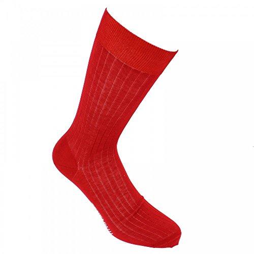 Mercerised cotton socks, Premium quality. - red - Tony & Paul
