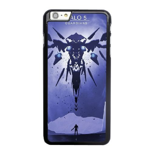 Grouden R Create and Design Phone Case, Halo 5 Guardians Cell Phone Case for iPhone 6 6S plus 5.5 inch Black + Tempered Glass Screen Protector (Free) LPC-0658748