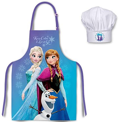 Frozen Die Eiskönigin Kinder Koch-Set Kochschürze und Kochmütze