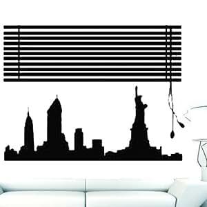 Wall4 wall stickers murale adesivo muro pareti new york for Finestra new york