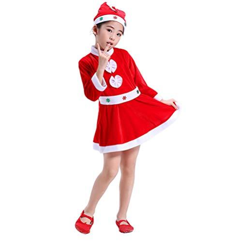 TENDYCOCO Mädchen Frau Santa Claus Kostüm Kinder Kleid Weihnachten Kleinkind Weihnachtsausstattung (Polar Prinzessin Kostüm)
