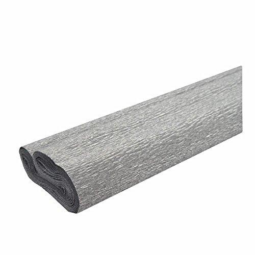 Krepppapier silber 50x250 cm - Wasserfest -