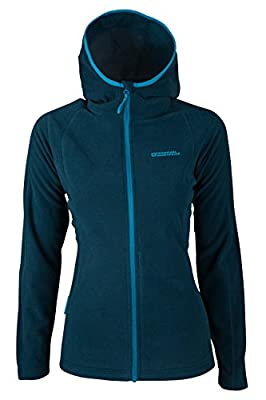 Mountain Warehouse Hebridean Damen Kapuzenpullover Fleece Hoodie Kapuzenjacke Reißverschluss warm bequem weich