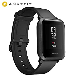 AMAZFIT Bip Smartwatch, Fitness GPS Smart Watch with Real-time Heart Rate, Touch Screen, Waterproof Sport Fitness Watch and Sleep Tracker, Barometer, Geomagnetic Sensor, Notification, IP68 Waterproof