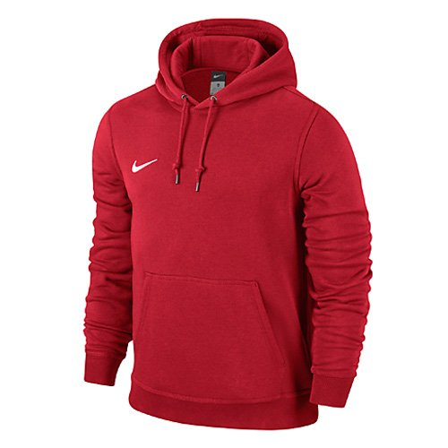 Nike Team Club - Felpa con cappuccio Per Bambini, Multicolore - University Red/Football White, taglia M (137-147)
