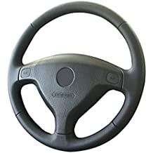 HCDSWSN Cubierta del Volante del Coche de Cuero Negro de Microfibra para Opel Zafira A 1999