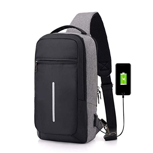 Backpack, Laptop Backpack RFID Anti Theft Travel Backpack for Women Men, High School College Bag w/USB Charging Port, Mancro Business Slim Water Resistant Polyester Daypack -