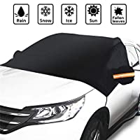 JUSTDOLIFE Car Windshield Cover Protective Reflective Strip Car Frost Cover Auto Snow Cover