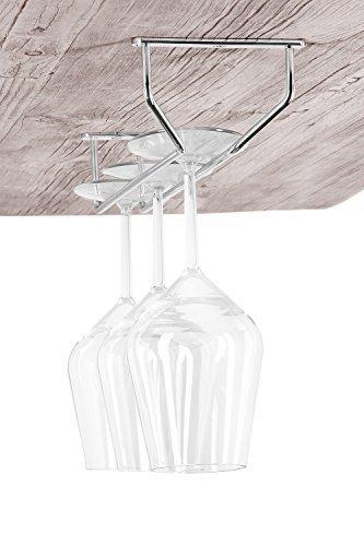 GedoTec Bar Weinglas-Halterung Gläserschiene für Deckenmontage | Glashalter Stahl verchromt |...