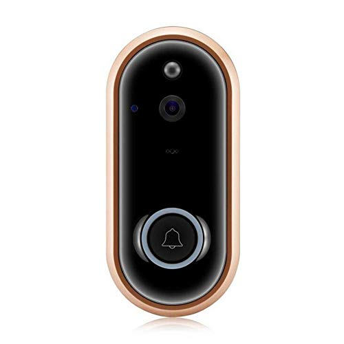 Drahtlose Video-Doorbell Ring Button 720P HD WiFi Kamera mit Echtzeit-Video, Two-Way Talk, Night Vision, PIR Motion Detection, SD Card IOS Android, Powered by AC & DC & Battery,B (Motion-detection-kamera-batterie)