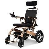 Elektrischer Rollstuhl Älterer Behinderter Autoälterer Intelligenter Automatischer Tragbarer Roller Multifunktionsfalte,Gold