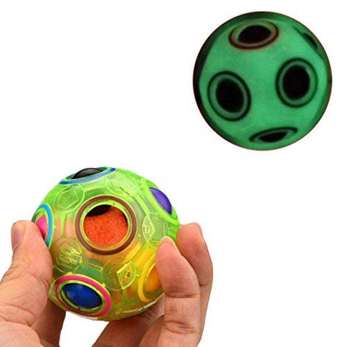 Xshuai 7,5 * 7,5 * 7,5 cm Luminous Stressabbau Magie Regenbogen Ball Spaß Cube Zappeln Puzzle Bildung Spielzeug Für Kinder / Erwachsene Weihnachtsgeschenk (Ball Kostüm 8 Magic)