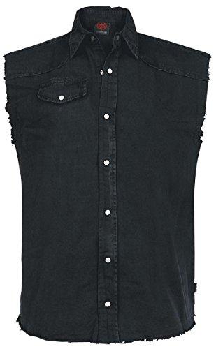 Spiral Solid Black Camicia senza maniche nero XL