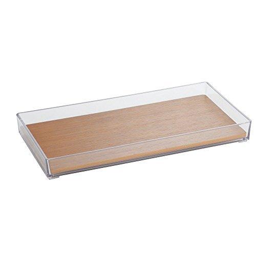 InterDesign Formbu Vanity, Tray, Natural Bamboo by