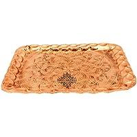 Indianartvilla rame inciso design vassoio Platter | piatti da portata