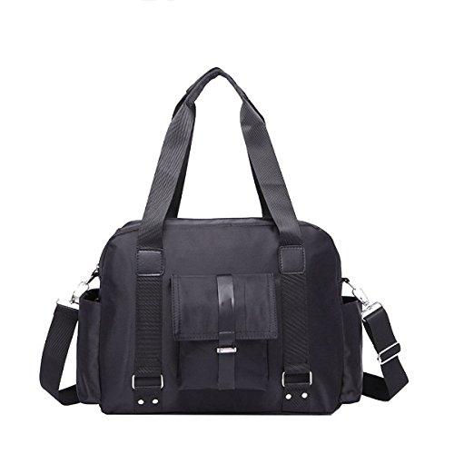 Yy.f New Oxford Cloth Impermeabile Borsa A Tracolla Uomo Fashion Computer Bag Cloth Briefcase Oxford M-package 2 Color Black