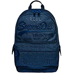 Superdry - Premium Goods Backpack, Hombre, Gris (Denim Marl), 15x45x34 cm (W x H L)