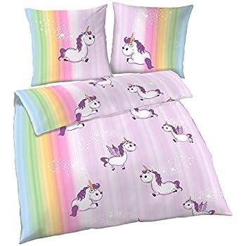 parure de lit avec motif de licorne polycoton taies d 39 oreiller comprises plusieurs tailles. Black Bedroom Furniture Sets. Home Design Ideas