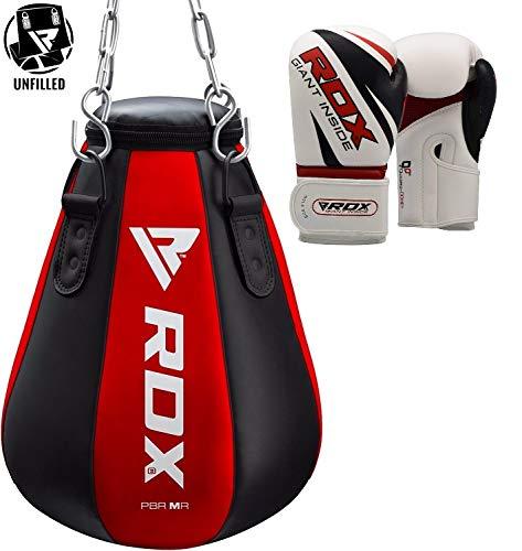 RDX Boxsack UNGEFÜLLT MMA Kampfsport Muay Thai Boxen Sack Set Kickboxen Training Boxhandschuhe Sandsack Punching Bag Gewicht (MEHRWEG) -