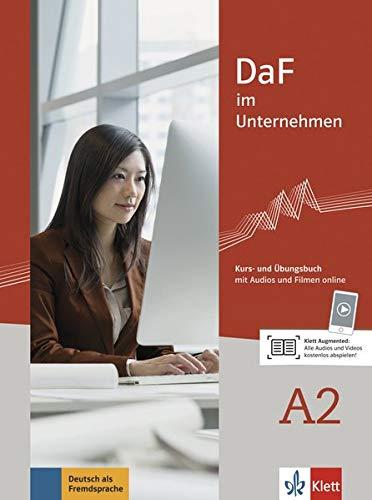 DaF im unternehmen a2, libro del alumno y libro de ejercicios: Kurs- und Übungsbuch mit Audios und Filmen online