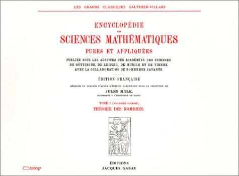 Encyclopédie des sciences mathématiques, tome I-volume 3 par Collectif