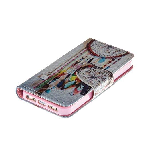 MOONCASE Étui pour Apple iPhone 5C Printing Series Coque en Cuir Portefeuille Housse de Protection à rabat Case Cover LD07 LD08 #0226