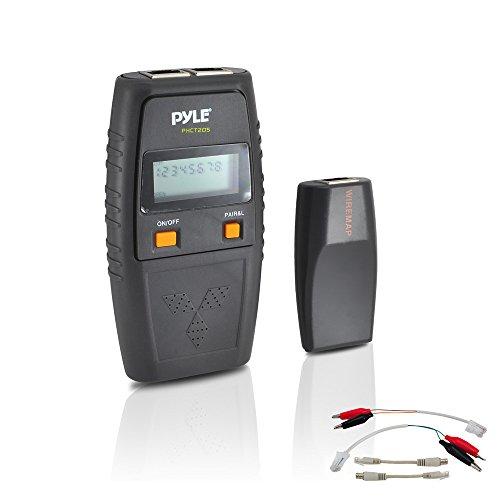 Preisvergleich Produktbild Pyle Netzwerk-Kabeltester mit UTP, FTP, BNC Koaxial, Telefon Gang, Kurzschluss, Offene Verbindungen und Test Leads inklusive, PHCT205