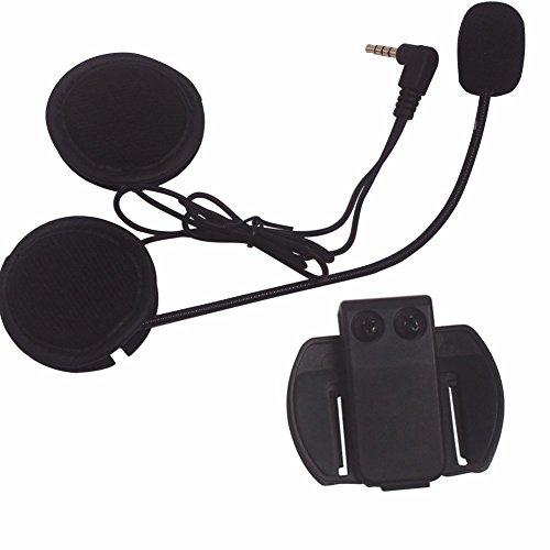 Evary - Micrófono de intercomunicador y auriculares + casco con clip, recambio...