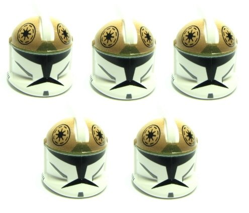 LEGO STAR WARS - 5 CLONE TROOPER / CLONE GUNNER HELME für Minifiguren - CLONE WARS HELME (Star Wars Clone Trooper Helm)