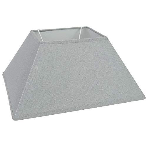 Lampenschirm grau rechteckig 30 x 14 x 15 cm Lampen Schirm Beleuchtung - Lampenschirm Rechteckige