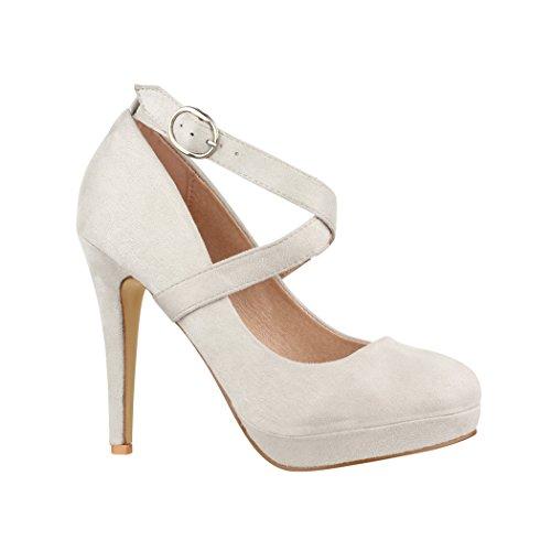 Elara Damen Pumps   Bequeme Riemchen High Heels   Stiletto Schuhe   Abendschuh Trendy   Chunkyrayan E22351 Grey-38