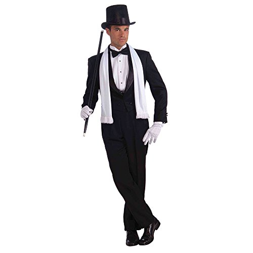 ADULT WHITE VINTAGE HOLLYWOOD SCARF FANCY DRESS (Fancy Dress Hollywood)
